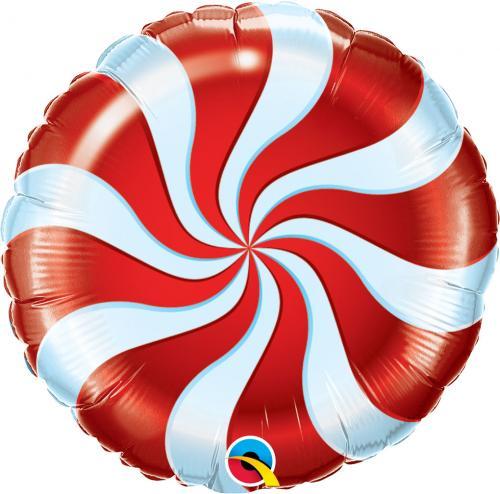 """18"""" (46 cm) Röd Godisballong"""