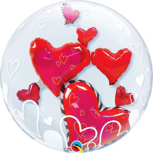 """24"""" (60 cm) Kärleksfulla Flytande Hjärtan"""