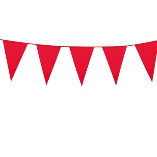 Flaggspel Utom- och inomhus Röd