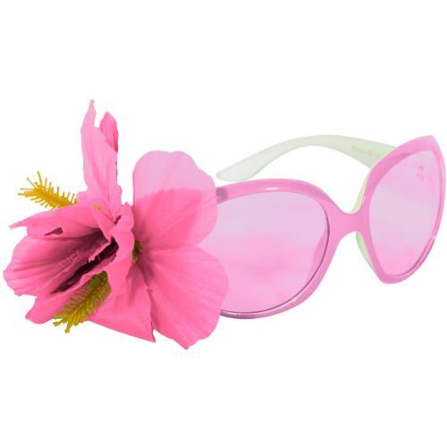 Rosa Glasögon med blomma