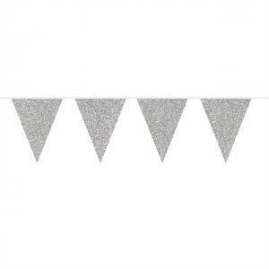 Flaggspel Glitter Silver