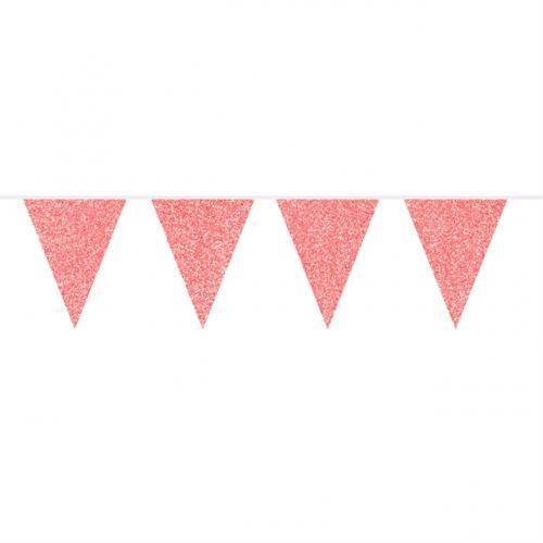 Flaggspel Röd Glitter