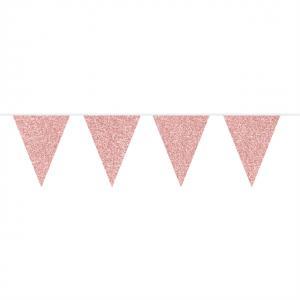 Flaggspel Glitter Rosé