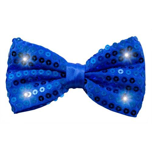 Partyfluga med paljetter och LED-lampor Blå