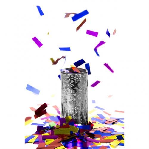 Foliekonfetti Bordsbomb Silver