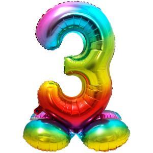 """32"""" (81 cm) Folieballong med stöd #3"""