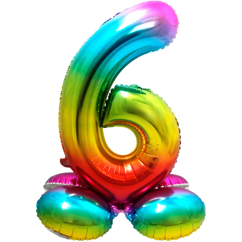 """32"""" (81 cm) Folieballong med stöd #6"""