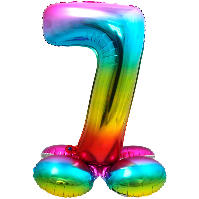 """32"""" (81 cm) Folieballong med stöd #7"""