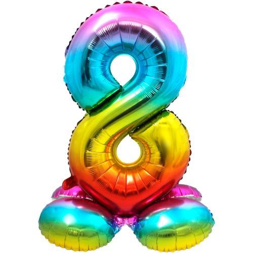 """32"""" (81 cm) Folieballong med stöd #8"""