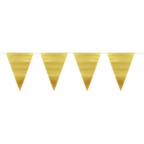 Flaggspel Matt Metallic Guld