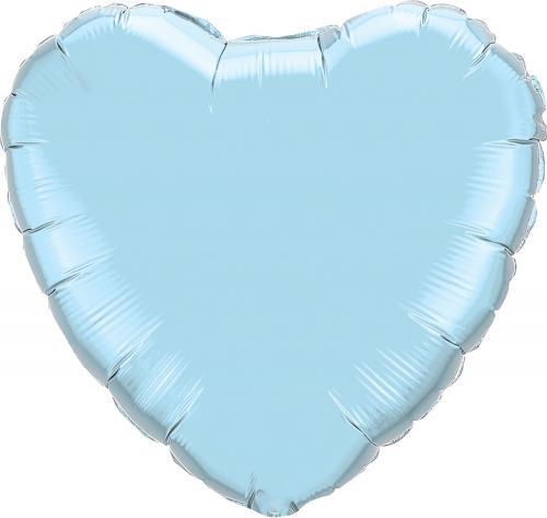 """36"""" (90 cm) Hjärta Pärlemo Ljusblå"""