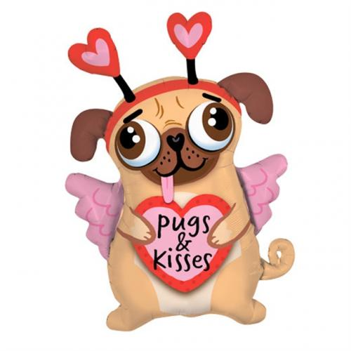"""36"""" (90 cm) Pugs and Kisses"""