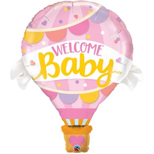 """42"""" (106 cm) Welcome Baby Rosa Ballong"""