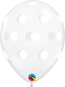 """11"""" (28 cm) Big Polka Dots Genomskinlig"""