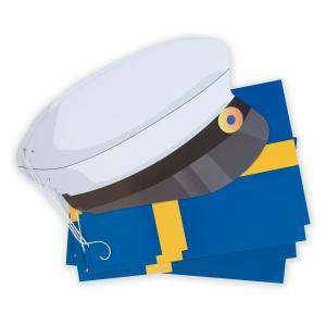 Flaggspel i papper med svenska flaggan och studentmössor