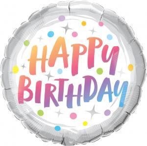 "18"" (46 cm) Happy Birthday Rainbow Dots"