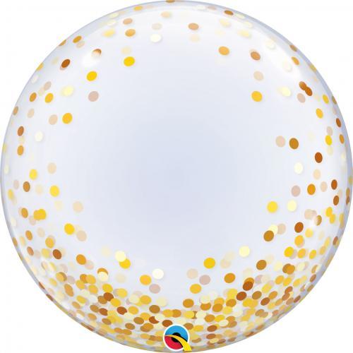 """24"""" (60 cm) Decobubbla Gold Confetti Dots"""