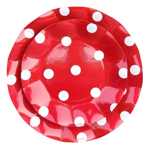 Papperstallrikar Polka Dot 21 cm