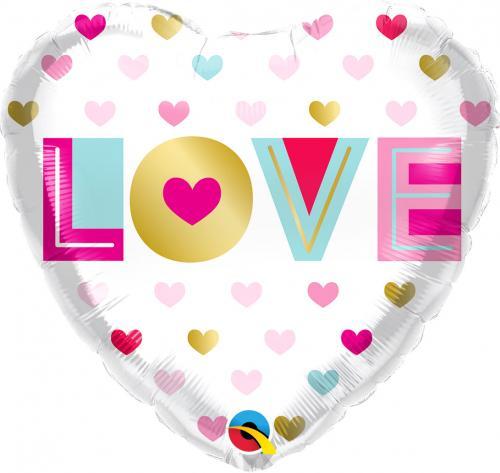 "18"" (46 cm) Hjärta Love"