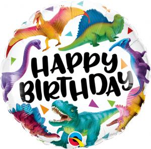 "18"" (46 cm) Happy Birthday Dinosaurier"