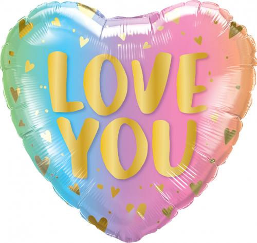 """18"""" (46 cm) Love You Pastel Ombré"""