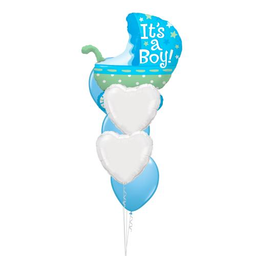 Barnvagn blå It's a boy!