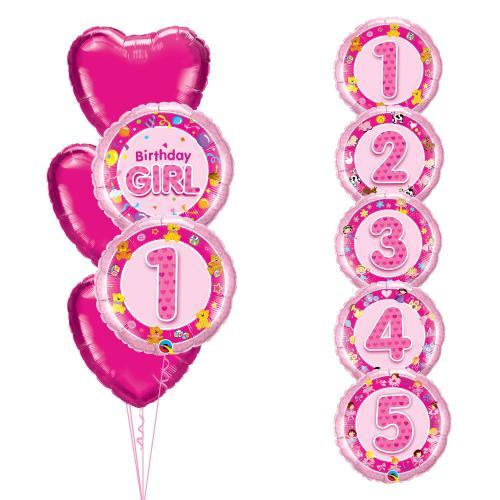 Birthday Girl Hjärta 5 år