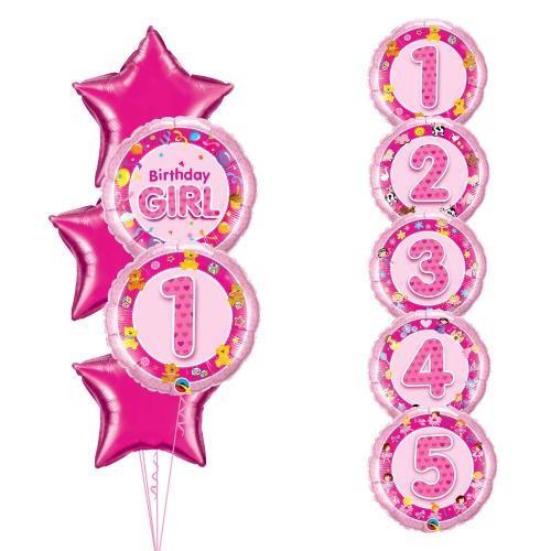 Birthday Girl Stjärna 5 år