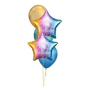 Födelsedagsbukett Stjärna Ombre