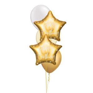Födelsedagsbukett Stjärna Guld