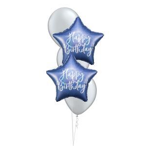 Födelsedagsbukett Stjärna Blå