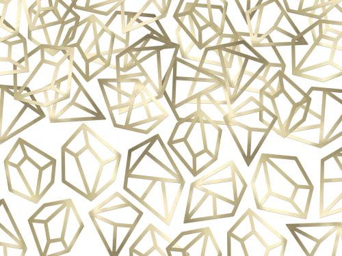 Konfetti Diamanter Guld