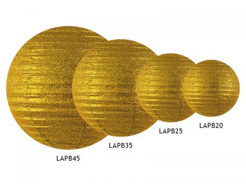 Glittrig lykta 20 cm Guld