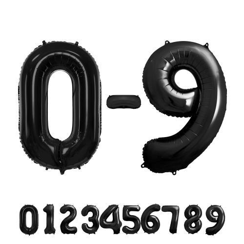 "34"" (86 cm) Siffra 1 Svart"