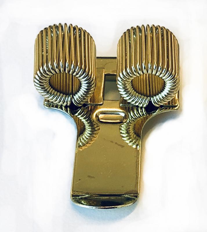 Pennhållare dubbel (guld)
