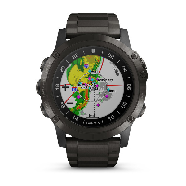 Garmin D2 Delta PX Watch, DLC Titanband, Puls Oxygen, 51 mm