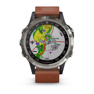 Garmin D2 Delta Pilot Watch - Leather Band (brown), 47 mm Diameter