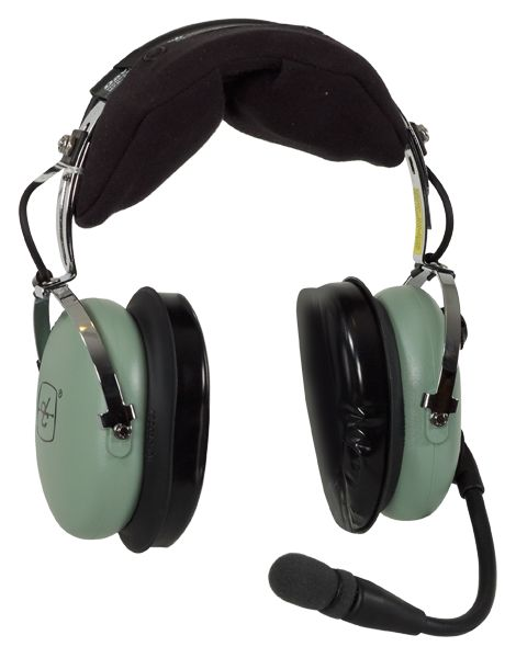 David Clark H10-13.4 General Aviation Headset, Twin Plugs, Straight Cord - incl. Headset Bag