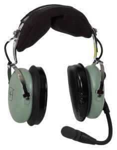 David Clark H10-13.4 General Aviation Headset, Twin Plugs, Straight Cord - incl. Headset Bag