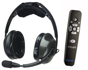 Pilot USA headset, passiv med bluetooth