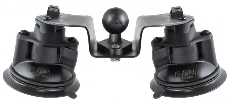 RAM dubbla sugkoppar, rörliga, enbart fäste, RAM-B-189B-PIV1U
