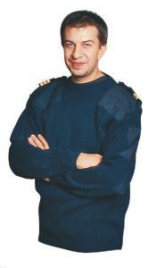 Natotröja Blå Rundhalsad