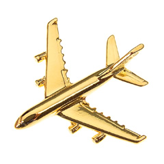 Airbus A380 Pin Guld