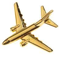 Boeing 737-800 Pin Guld