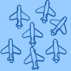 Aeroplane Paper Clips