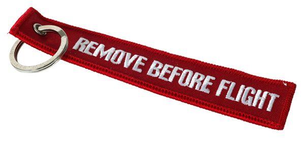 "Keyring ""Remove before flight"""