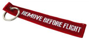 Remove Before Flight Nyckelring