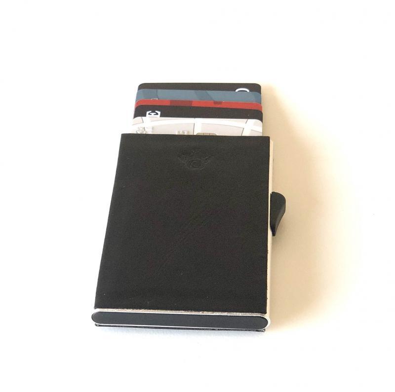 Korthållare skinn med RFID secure, 6 kort