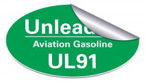 UL91-dekal stor