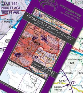 French ICAO VFR 1:500 000 Chart 942 - North East